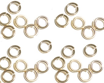 24GA O//D 3 MM 250 PCS ANTIQUE GENUINE SOLID COPPER OPEN ROUND JUMP RING