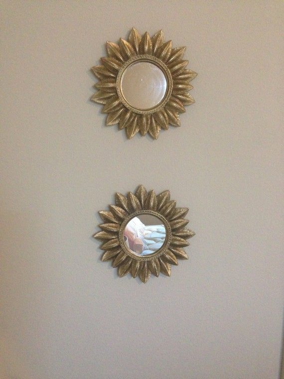 Baroque Gold Mirrors Pair Gold Leaf Carved Feather Mirrors Gilt Wall Mirror Baroque Chinoiserie  Hollywood Regency