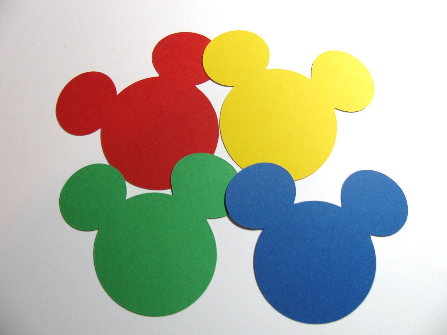 Mickey Mouse Clubhouse 100 Pack 2 Ear Die Cuts Etsy Luggage Tag Head 50