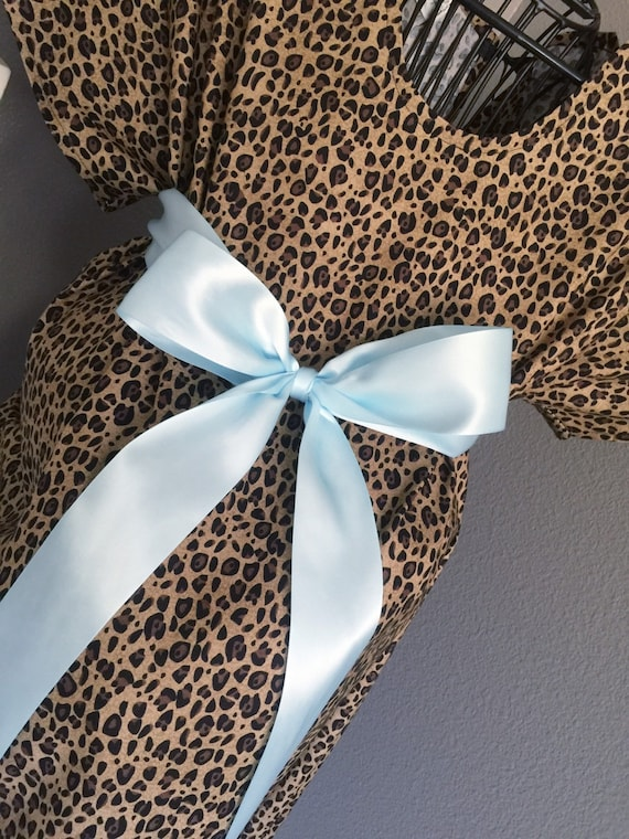 Trendy Maternity Hospital Gown Leopard Print
