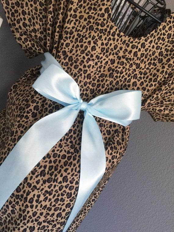 Trendy Maternity Hospital Gown Leopard Print | Etsy