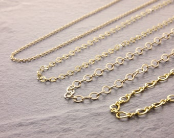 Gold Chain Necklace, charm necklace chain, gold choker necklaces, layering necklace, gold filled chain, delicate chain, thin necklace, 1g