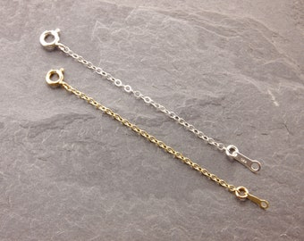 """Chain Adjuster, 1"""", 2"""", 3"""", 4"""", 5"""", chain extender, necklace adjuster, necklace extender, silver extender, gold extender, sterling, 3g/3s"""