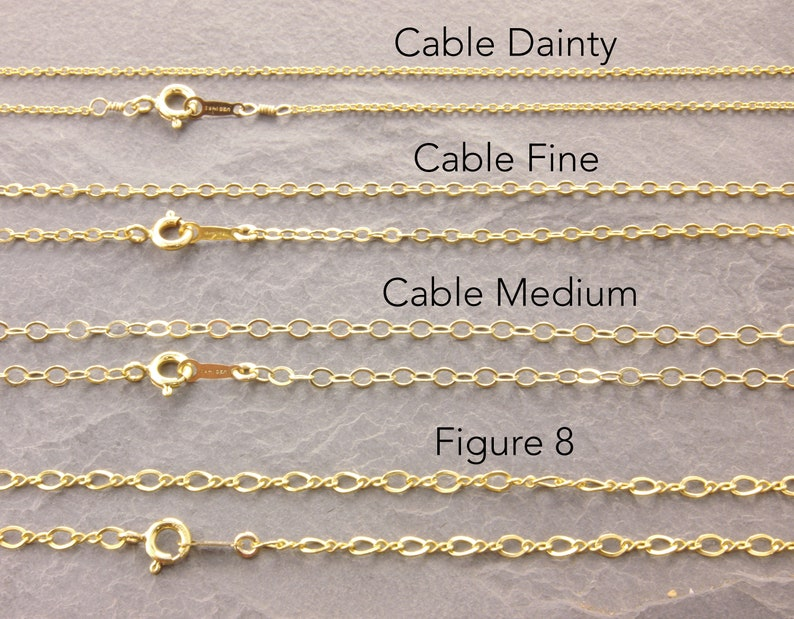88677f06f072e Plain Gold Chain Necklace 12 to 36 inches 14k gold filled | Etsy