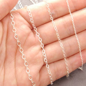 Sterling Silver Chain Necklace any length dainty chain 1s figure 8 chain choker necklace silver long chain necklace layering necklace