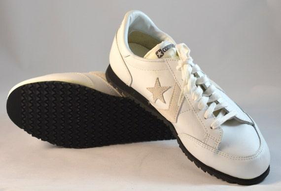 Deadstock 80's White Leather Converse Coach Oxford
