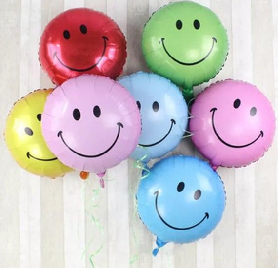 Luftballons 18 Zoll Lacheln Gesicht Ballon Emoji Ballon Gelb Etsy