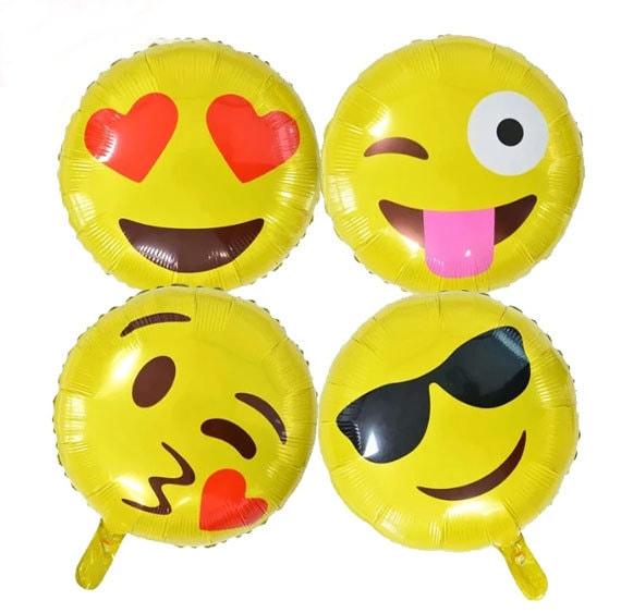 Luftballons 18 Zoll Emoji Ballon Gesicht Cool Liebe Wink Etsy