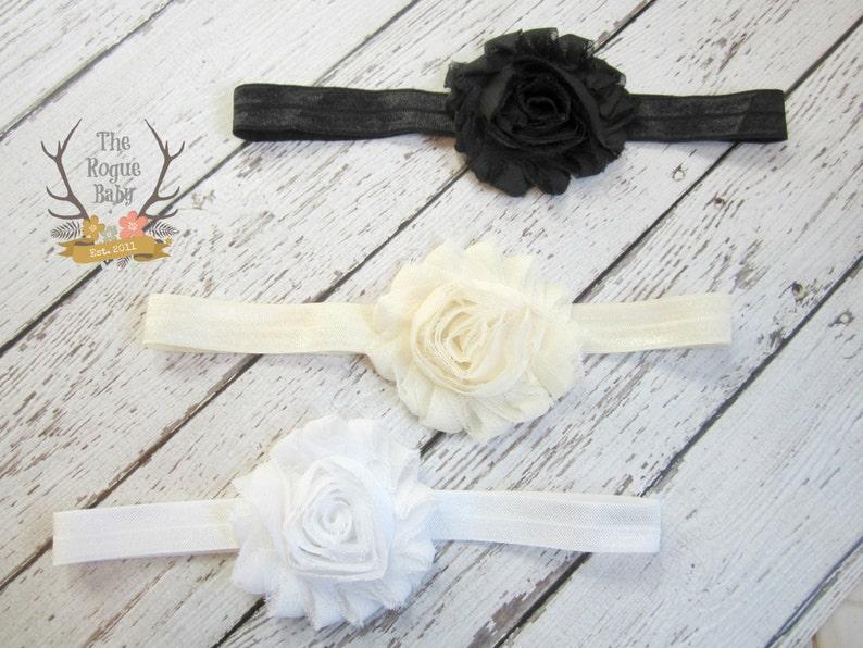 Headband Gift Set  3 pieces  Soft Elastic Shabby Chiffon image 0