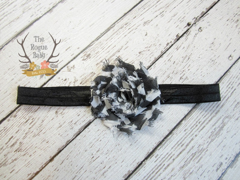 Black & White Headband   Photo Prop  Newborn Infant Baby image 0