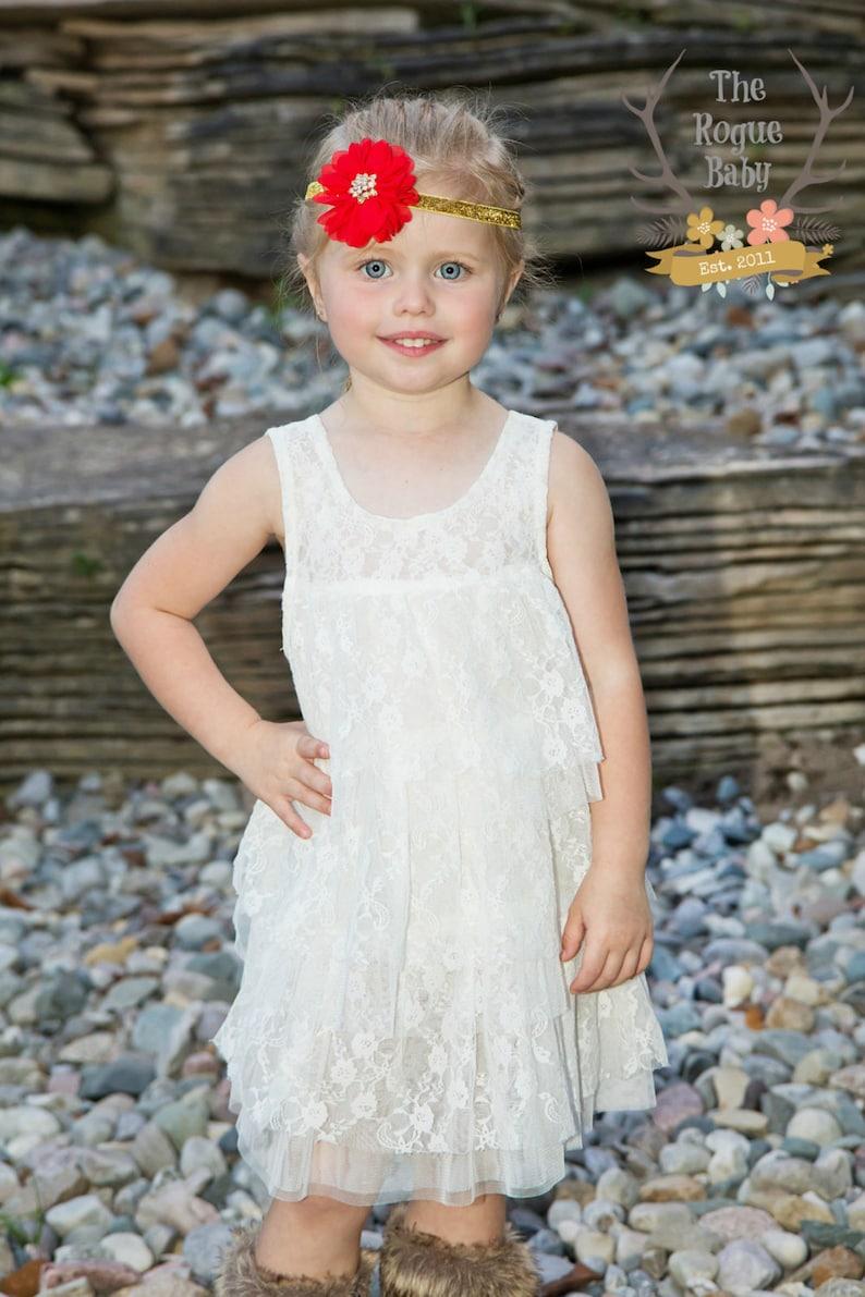 Little Royalty Red & Gold Headband   Glitter Rhinestones  image 0