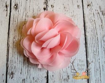 Blush Pink Rose Flower Hair Piece. Wedding Bridal Flower Girl. Bride Bridesmaid Women Rustic Outdoor