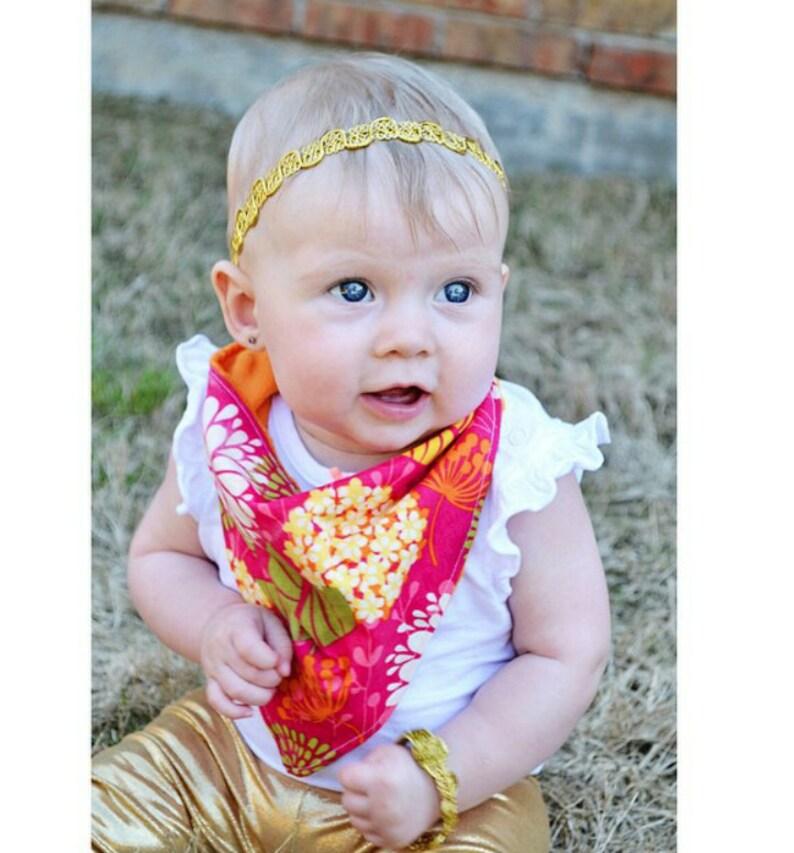 Girls Metallic Gold Boho Headband & Bracelet Set  Gold image 0
