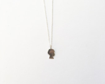 baby silhouette charm necklace