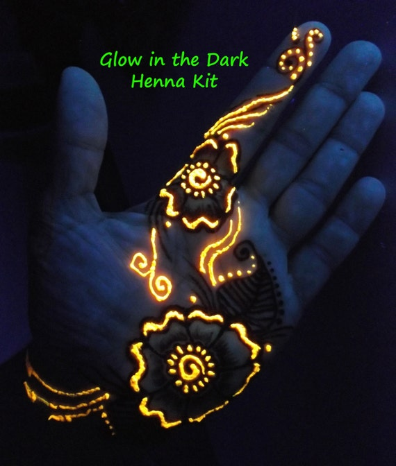 Glow In The Dark Henna Kit Mehndi Bridal Gift For Her Etsy