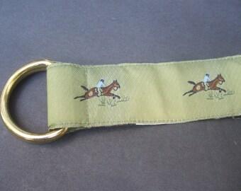 Equestrian Green Ribbon Horse Jumper Belt