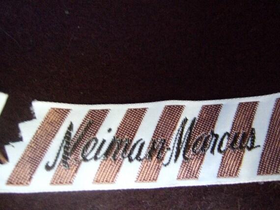 NEIMAN MARCUS 1970s Sleek Brown Fedora Wool Hat N… - image 4