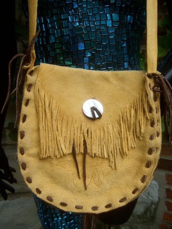1970s Plush Soft Suede Fringe Shoulder Bag
