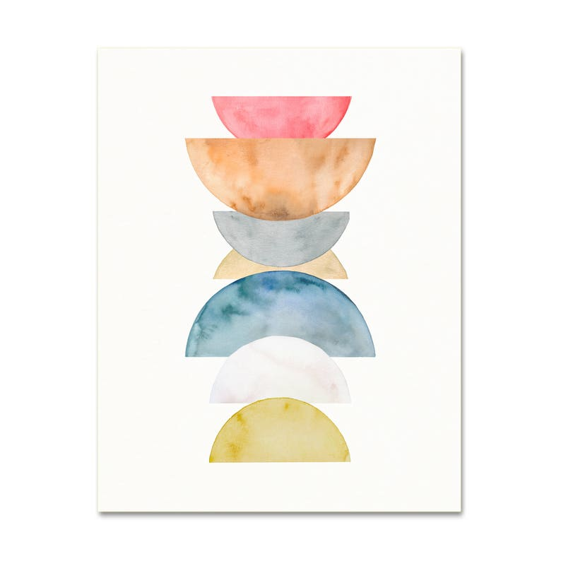 4954b605d8941 Modern Scandinavian Style Watercolor Art Print. Soft Colors