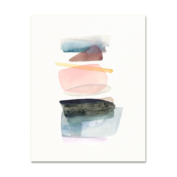 Simple Abstract Watercolor Art