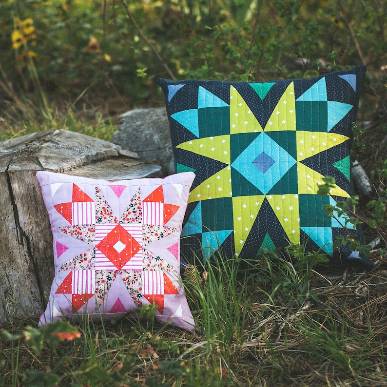 Clara Quilted Pillow Pattern PDF image 0