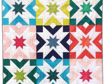 Starbelt PDF Quilt Pattern - Confident Beginner level - Large blocks!