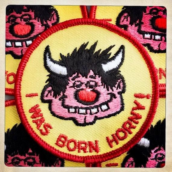 HORNDOG! 'I Was Born HORNY!' Round Devilish Guy P… - image 1
