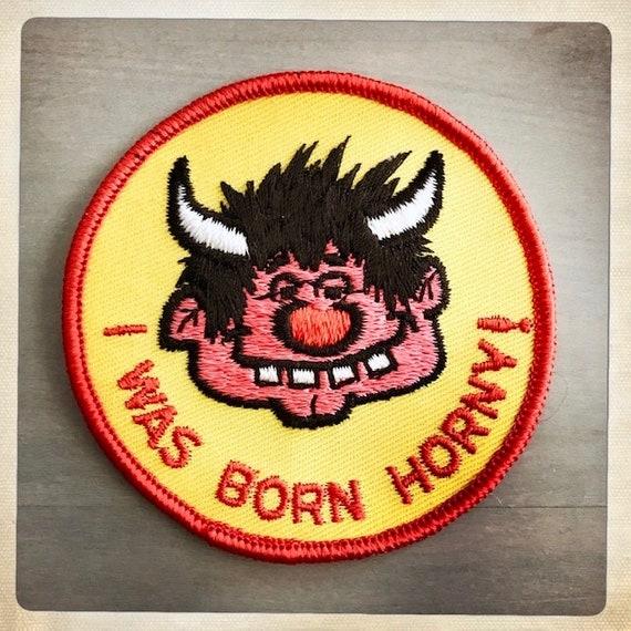 HORNDOG! 'I Was Born HORNY!' Round Devilish Guy P… - image 2
