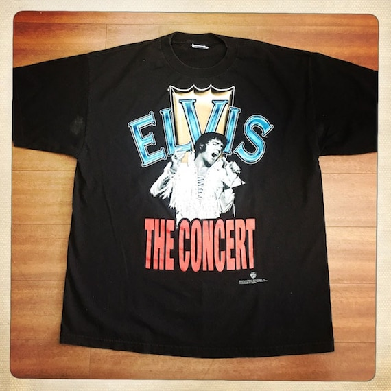 ELVIS the Tour Vintage ELVIS Black Crew Neck T Shi