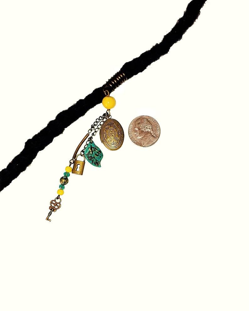 Dreadlock Jewelry Antique Gold Locket Loc Jewel