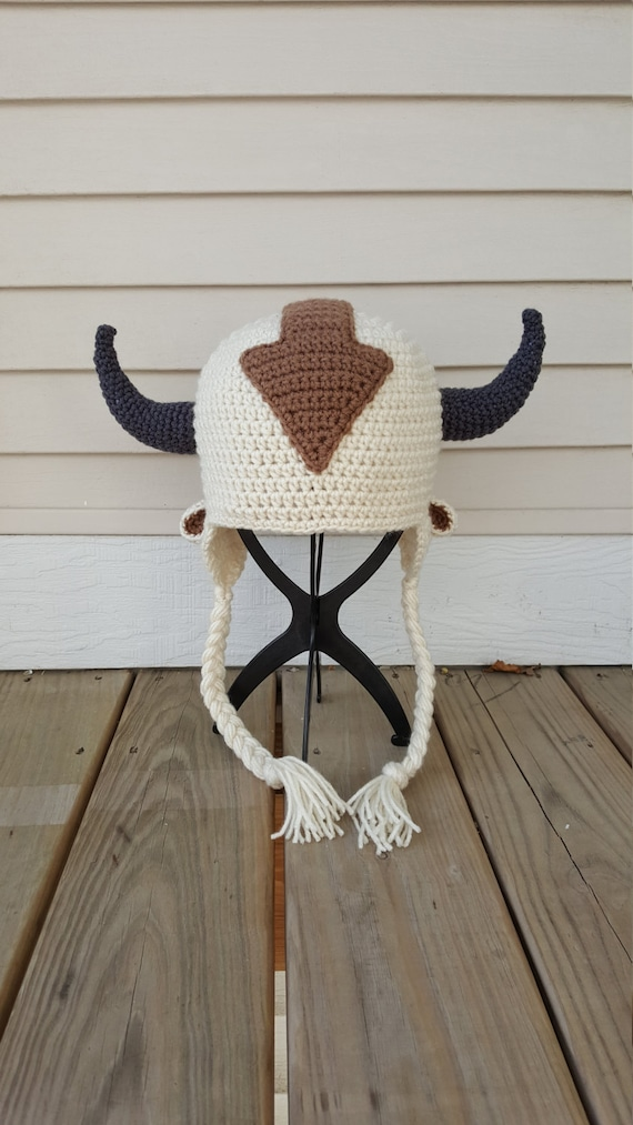 Appa The Flying Bison Inspired Hat From Avatar The Last Etsy