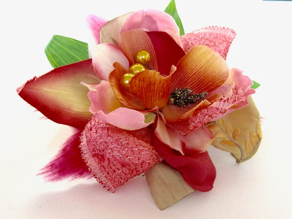 Tiki Pinup Flower, Vintage-Style Holiday Hair Fascinator Accessory