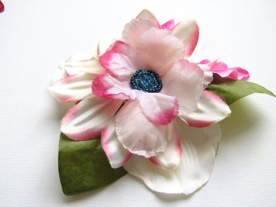Pink Pinup Hair Clip.  Tropical Flower Accessory