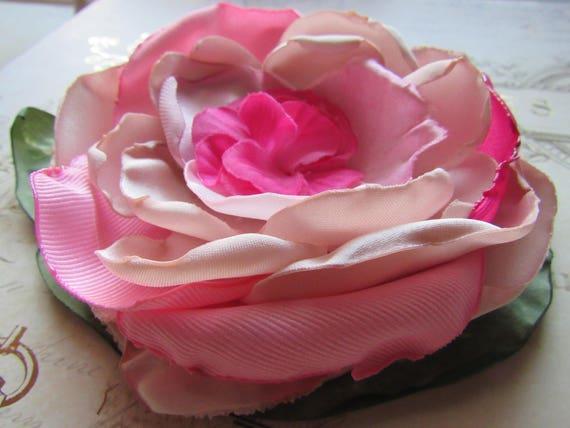 Pink Rose Bridal Brooch Pin Accessory