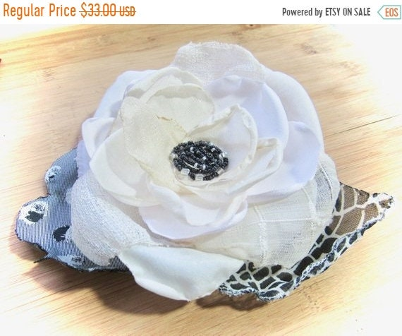 Ladies Bridal Satin Hair Flower