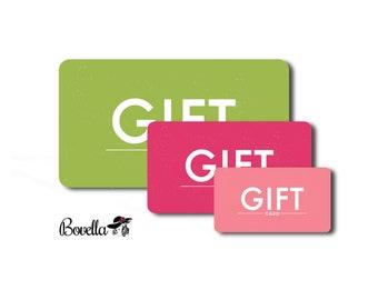 Gift Certificate for Bovella.  Last Minute Gift.  Bovella Gift Card.  Digital Gift Card