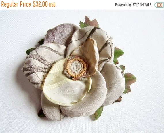 Boho, Shabby Chic Bridal Hair Flower.  Ladies Earth Toned Hair Accessory