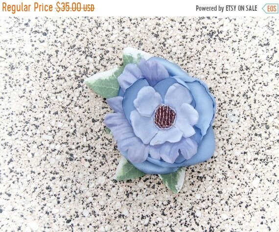 Something Blue Bridal, Pinup, Vintage Style Hair Flower Fascinator