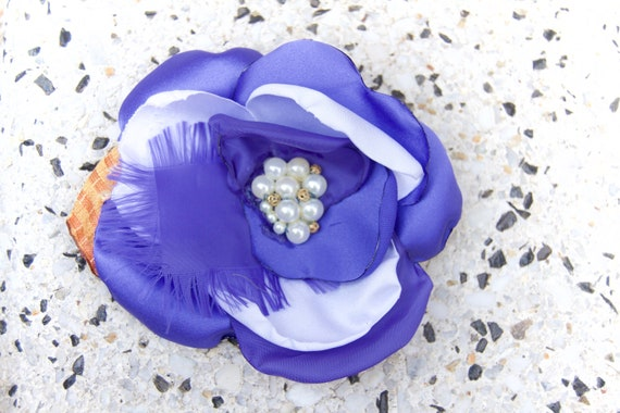 Purple Pinup Hair Flower