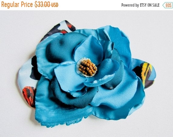 Pinup Rockabilly Accessory.  Dancer Hair Bow.  Retro Inspired Flower