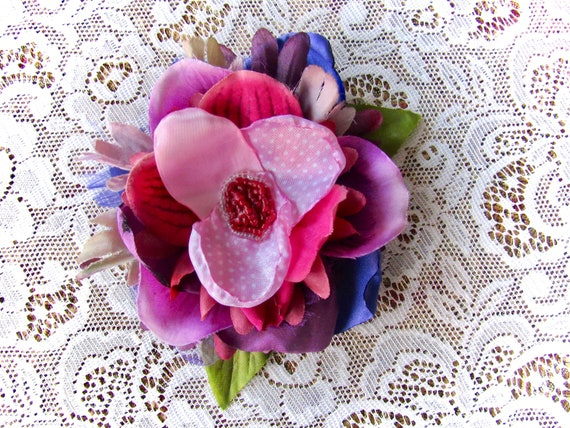 Vintage-Inspired Pinup Rockabilly Bridal Hair Flower Accessory