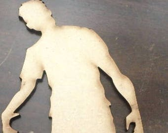 Male Zombie Large Wood Cut Out Laser Cut
