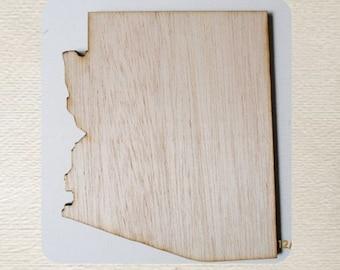 Arizona State (Medium) Wood Cut Out - Laser Cut