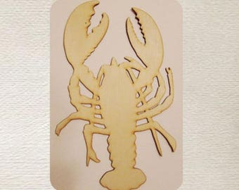 Lobster Wood Cut Out - Laser Cut