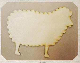 Sheep / Lamb - Wood Cut Out - Laser Cut