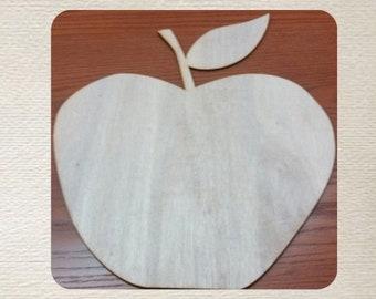 Apple (Medium) Wood Cut Out - Laser Cut