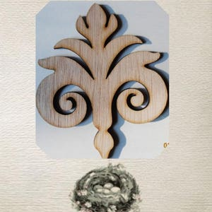 Fancy Fleur-de-lis Wood Cut Out - Laser Cut