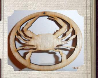 Crab - Laser Cut Wood Ornament