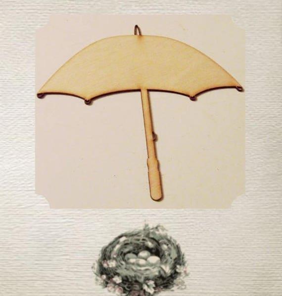 Umbrella Parasol Wood Cut Out Laser