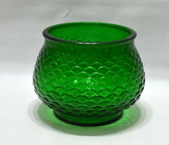 Vintage Vase EO Brody Green Crinkle Texture USA